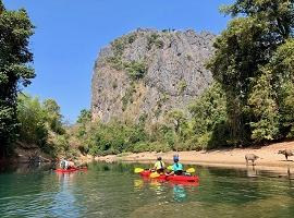 Kayaking, Hinboun, Laos