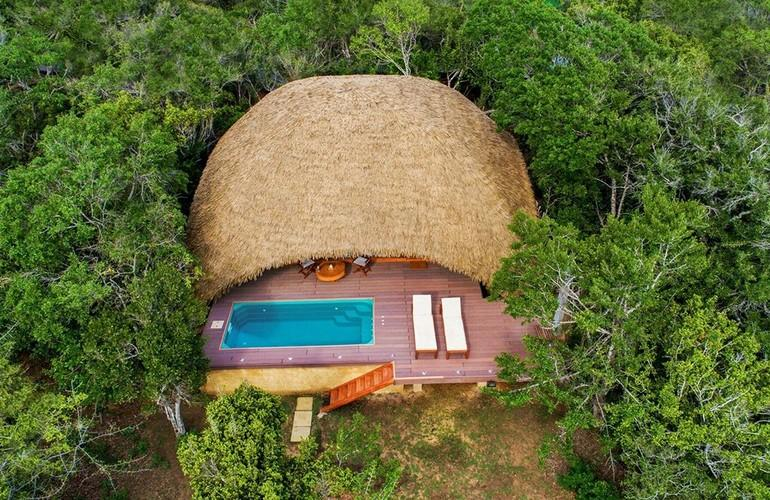 Aerial view, Chena Huts
