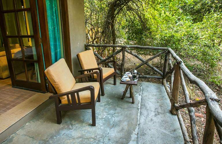 Terrace, Bandhavgarh Jungle Lodge