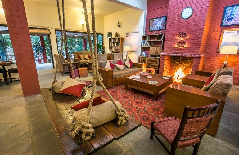 Lounge, Bandhavgarh Jungle Lodge