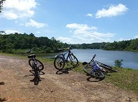 cycling in the countryside around Galle