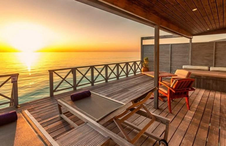 Deck, Water Villa, Komandoo Island Resort & Spa