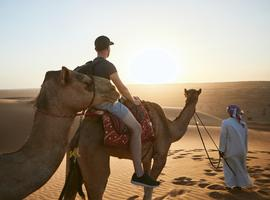 Camel-riding, Wahiba Sands