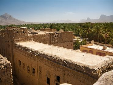 Roof of old mud houses, Al Hamra