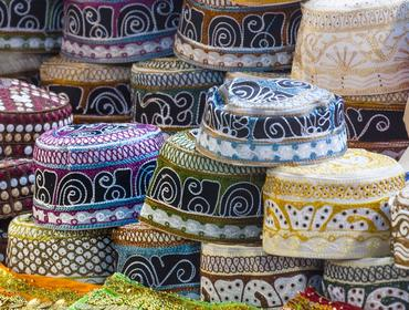 Traditional caps at Mutrah Souq, Muscat