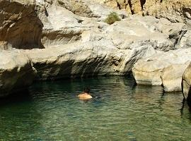 Swimming at Wadi Bani Khalid