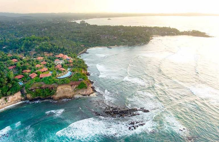 Aerial view, Cape Weligama